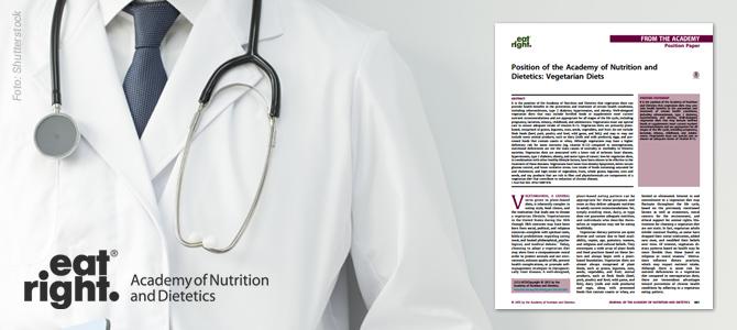 Maior associação de nutricionistas dos EUA volta a endossar a alimentação vegana bem planejada