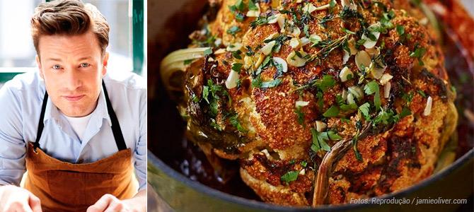 Chef inglês Jamie Oliver publica coleção com 35 receitas veganas para a ceia de Natal