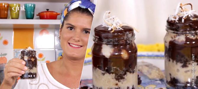 Bolo vegano de chocolate com coco no copinho é a nova receita de Tati Lund no portal do GNT