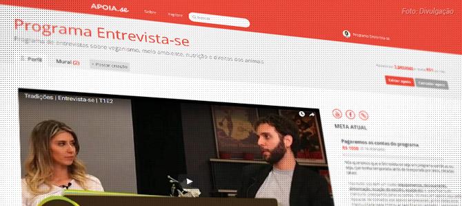 Entrevista-se lança campanha de financiamento coletivo a partir de R$ 1,00 e com recompensas