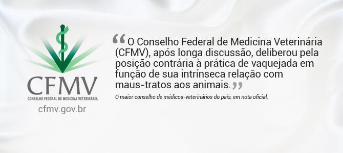 Conselho Federal de Medicina Veterinária (CFMV) se posiciona oficialmente contra as vaquejadas