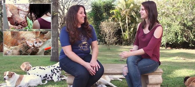 Stephanie Lourenço visita o santuário Terra dos Bichos e conversa sobre as Porcas do Rodoanel